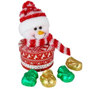 Snowman Glitter Hat with Chocolate
