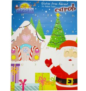Christmas Advent Calendar with Carob