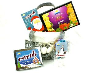 Fur trimmed PomPom Reindeer Bag with Carob