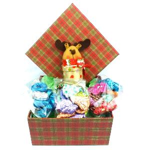 Attractive Tartan Box contains Chocolate Selection