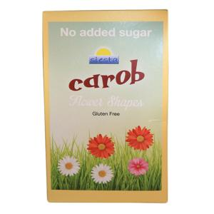 Orange Carob Flower Shapes 100g