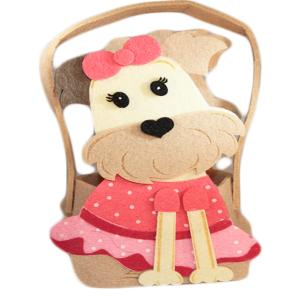 Chocolate Cute Dog Basket (Pink)