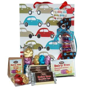 Car Design Gift Bag  with selection of chocolate products