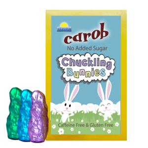 Carob solid Chuckle Bunny Shapes 120g