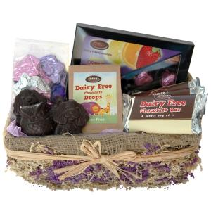 Chocolate Lavender Rush Basket (Large)