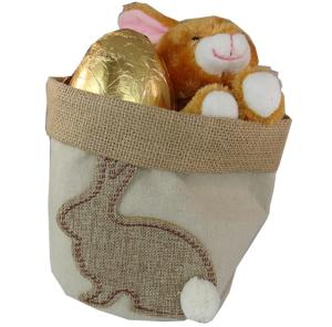Hessian Planter with Easter Chocolate