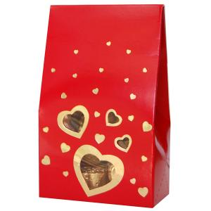 ORANGE CAROB HEART SHAPES 120g
