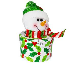 Snowman Glitter Hat Box with Carob
