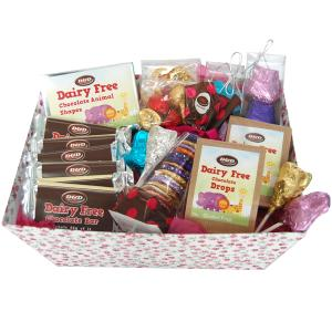 Large hamper with selection of chocolate products