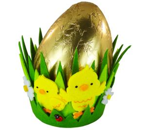 250g Chocolate Egg in Cute Chick Basket