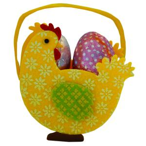 Chocolate Yellow Chick Basket with 20g Eggs