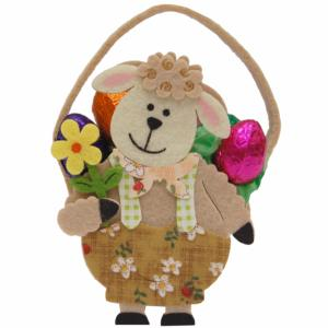 Chocolate - Pretty Ivory Sheep Basket