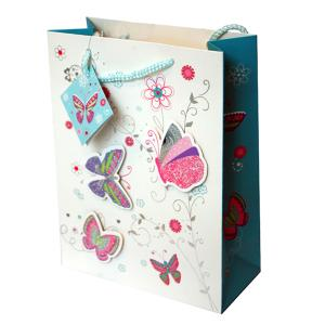 Chocolate Gift Bag with Hearts and Flowers