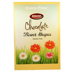 Chocolate Flower Shapes in decorative box