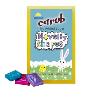 Carob Easter Novelty Shapes Boxed 100g