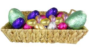 CAROB - Basket containing 101 Easter Eggs