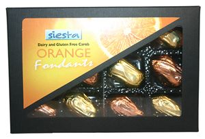 Carob Orange Fondants x 12 (Contain sugar)