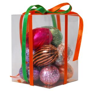 Attractive Cello Box with  20g  Hollow Chocolate Eggs
