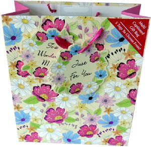 Chocolate Gift Bag with Mixed Fondants and Flower Shapes