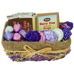 Chocolate Lavender Rush Basket (Small)