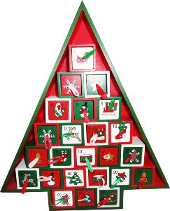 Wooden Christmas Advent Calendar to fill yourself