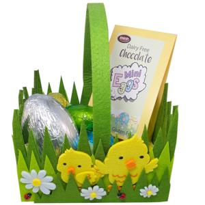 Cute Felt Chick Basket with Easter Chocolates
