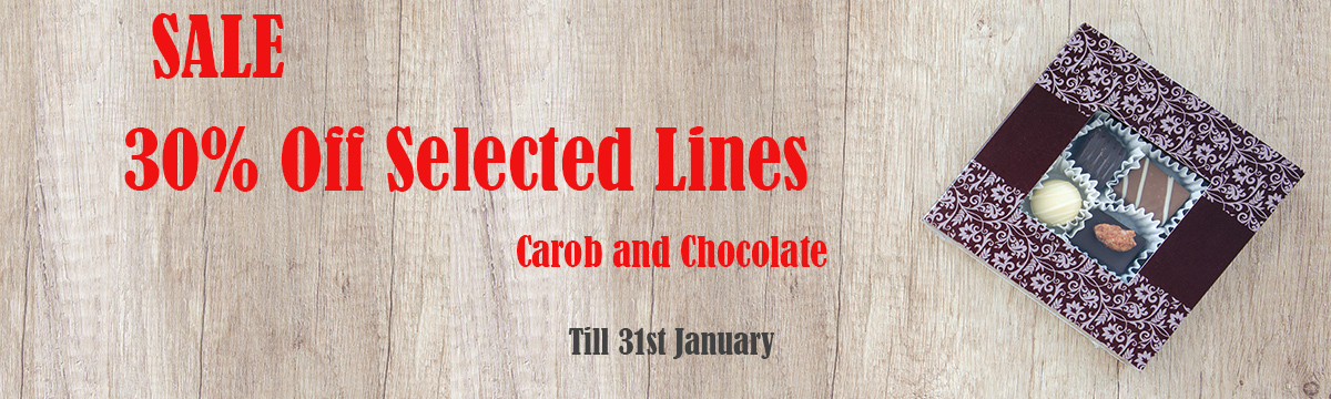 Vegan Chocolate and Carob Sale