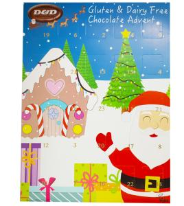 Christmas Advent Calendar with Chocolate
