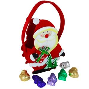Santa Felt Bag (Present and Tree) with Christmas Chocolate