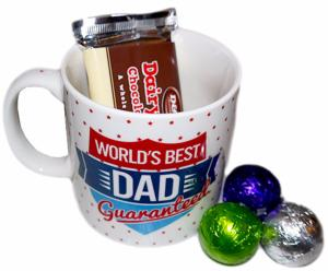 """Best Dad"" Jumbo Mug containing chocolates"